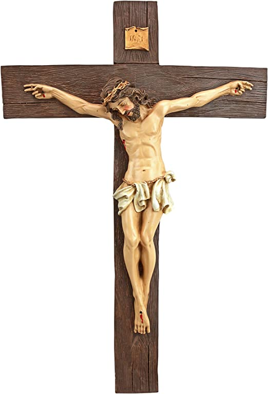 Amazon Com Design Toscano Crucifixion Of Christ Cross Wall Sculpture Medium Home Kitchen