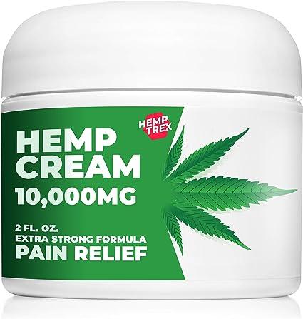 Amazon.com: Crema de cáñamo para alivio del dolor con extracto de ...
