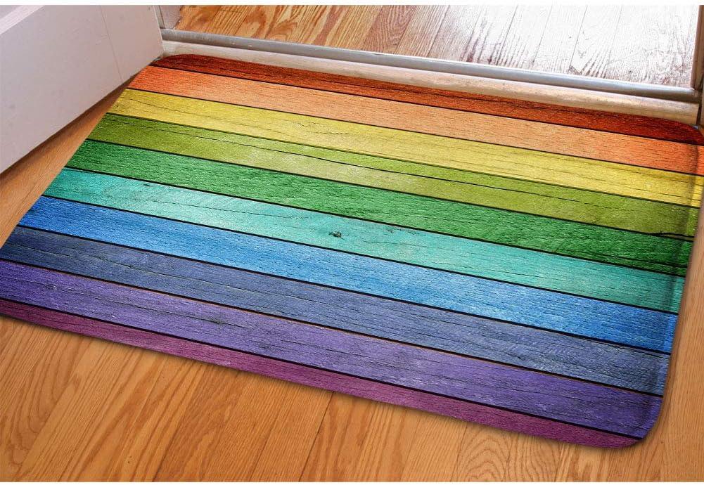Amazon Com Hugs Idea Rustic Old Barn Wood Rainbow Colors Doormat Welcome Door Mats Indoor Bathroom Rugs Entrance Floor Carpet Home Office Decor Garden Outdoor