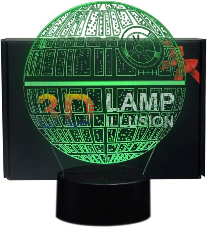 sunray - Lámpara de mesa 3D con iluminación nocturna LED, 7 colores, para decoración de dormitorio de niños