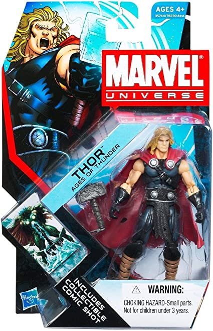 Amazon Com Marvel Universe 3 3 4 Inch Series 17 Action Figure Thunder Age Thor Toys Games