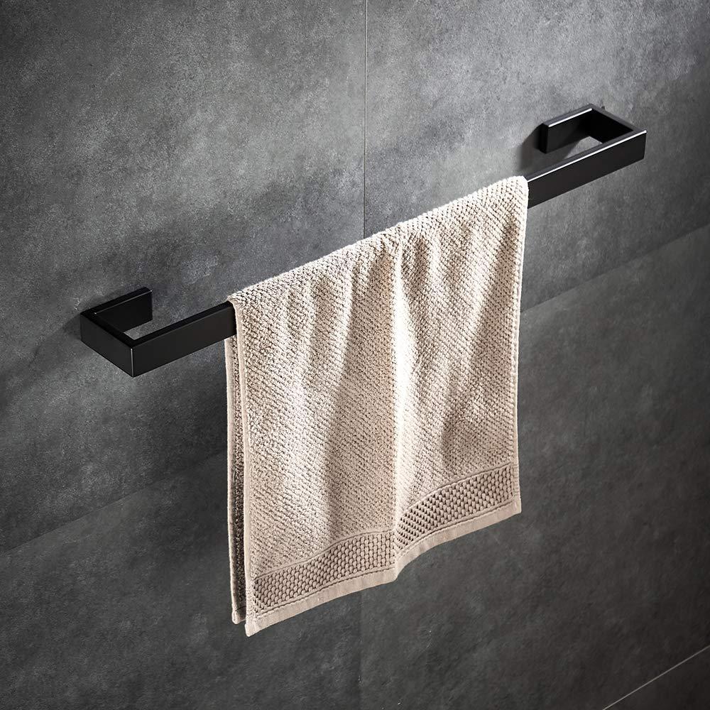 YJ YANJUN Matte Black Towel Bar - Modern Bathroom Towel ...
