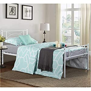 Bed Frame Twin Size, Yanni Easy Set-up