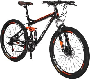 EUROBIKE Full Suspension Mountain Bike Best entry-level full-suspension mountain bike