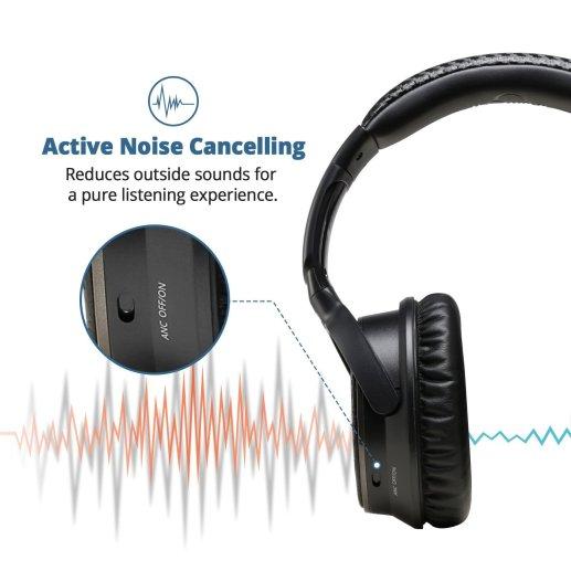 Active Noise Cancelling reduziert Umgebungsgeräusche - iDeaUSA Active Noise Cancelling Kopfhörer