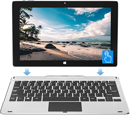 Jumper Laptop Touchscreen 11.6 inch 6GB 64GB, Quad Core Celeron N3450 ,Tablet with Keyboard 2-in-1 Windows 10 Laptop, USB 3.0, Wifi, support 128GB microSD expansion