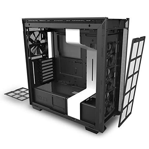 NZXT H710 Extended ATX対応ミドルケース [ White & Black ] CA-H710B-W1