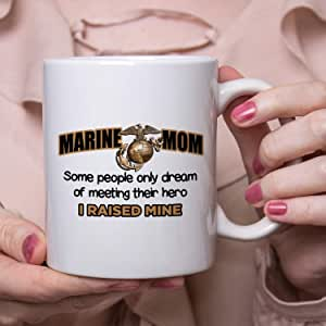 Marine Mom Funny Coffee Mug Tea Cups Personalized Add Your