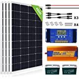 ECO-WORTHY 480W Solar Panel Kit with Battery and Inverter Complete Solar Power System Off Grid for Home, RV, Boat, 12V Battery
