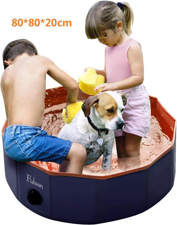 Perros, Piscina para Niños, Gatos Bañera Plegable para Mascotas