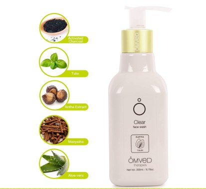 Clear Face Wash for Deep Cleansing by Omved, Clear Face Wash for Deep Cleansing by Omved review, Omved Therapies products, best chemical-free face washes in India