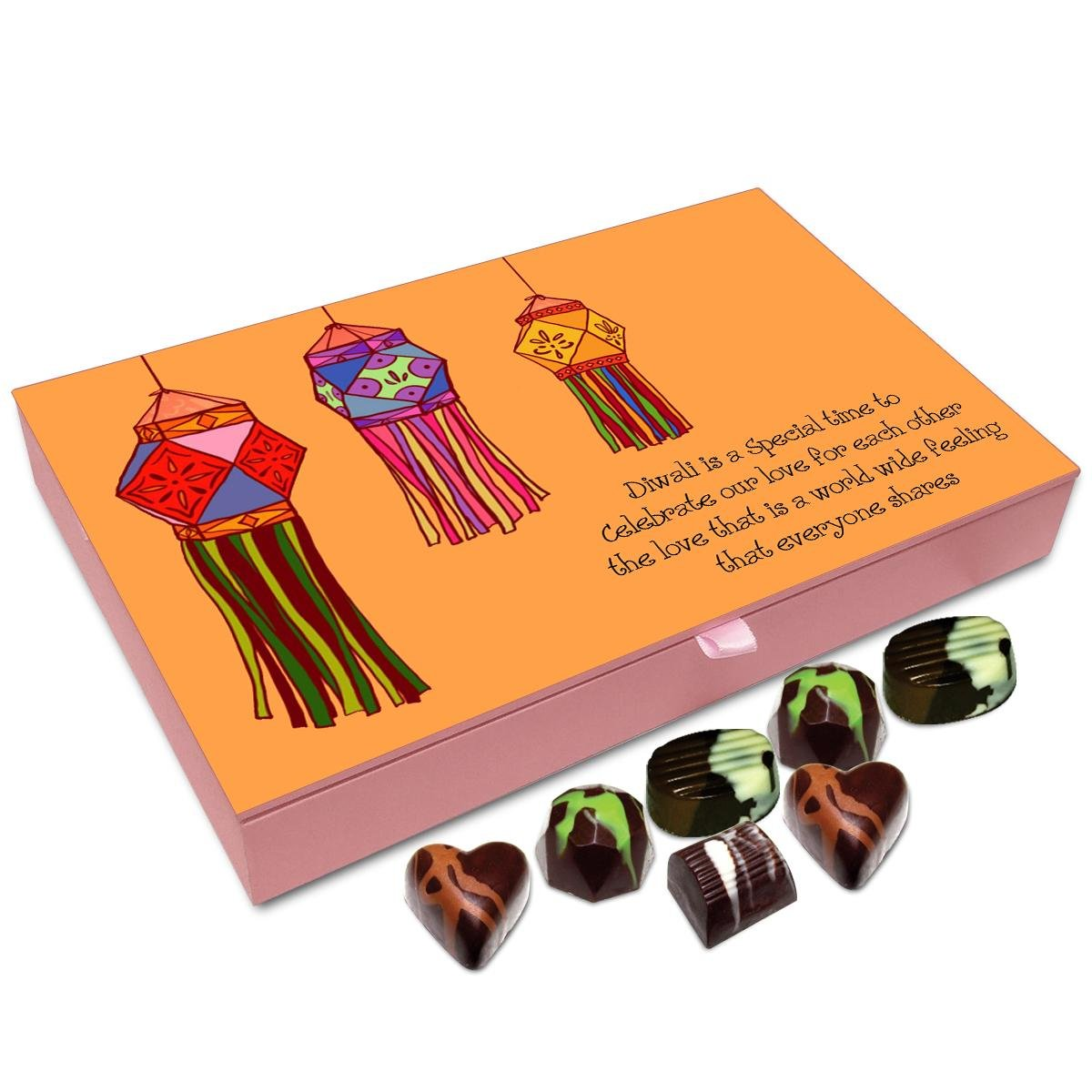 Chocholik Diwali Gift Box – Diwali is A Festival of Love Chocolate Box – 12pc