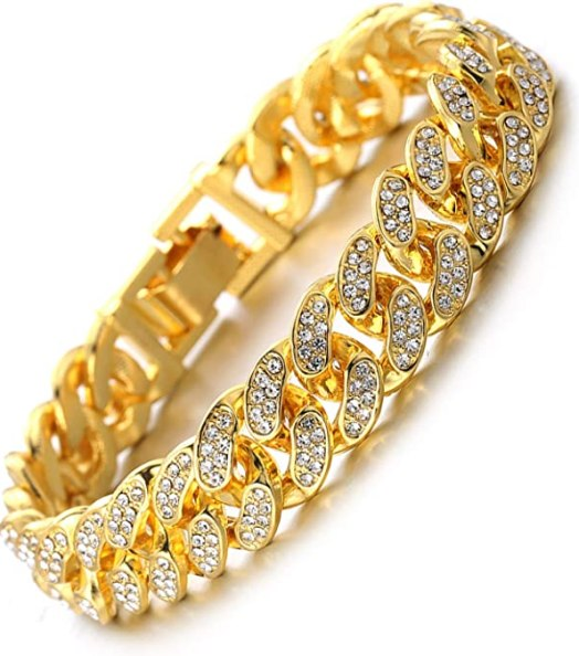 Halukakah Cuban Link Chain for Men Iced Out,15MM/20MM Men's Gold Chain Miami 18k Real Gold Plated/Platinum White Gold Finish Choker Necklace Bracelet,Full Cz Diamond Cut Prong Set,Gift for Him