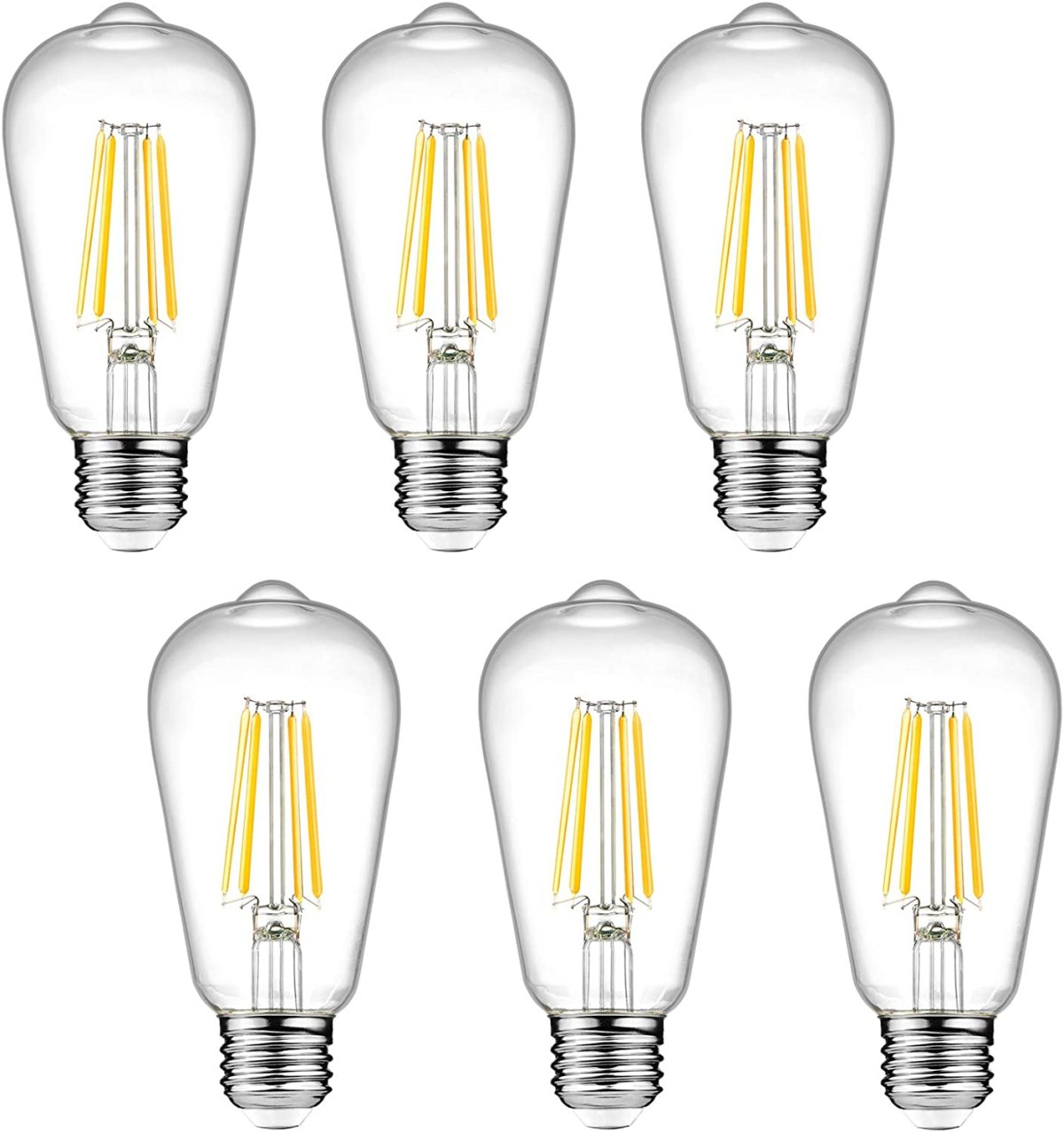 Dimmable Ascher Vintage LED Edison Bulbs