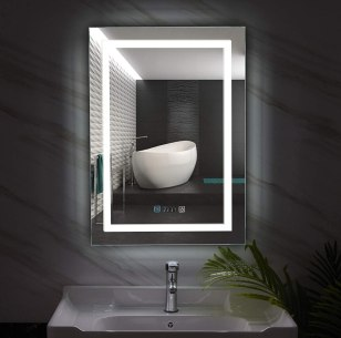 GXP LED Illuminated Defog Bathroom Mirror with Shaver Socket