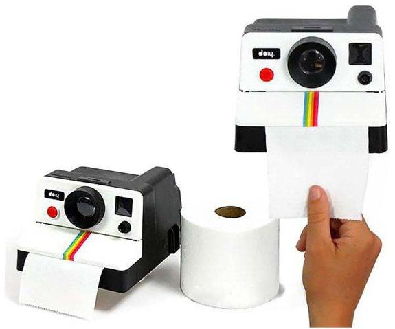 Polaroid Kamera WC- Papierrollenhalter