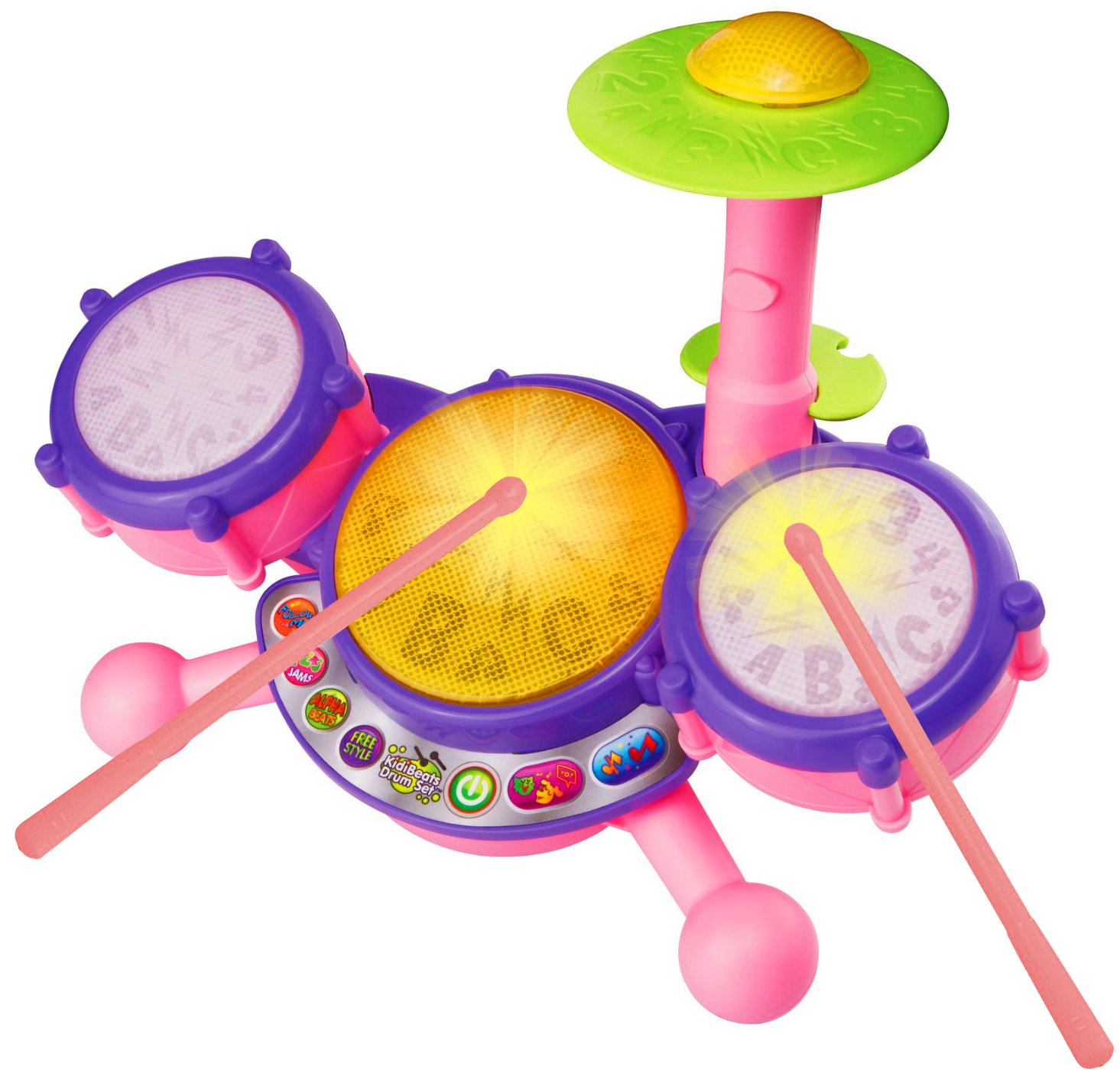 Vtech Kidibeats Drum Set  Pink  Online Exclusive