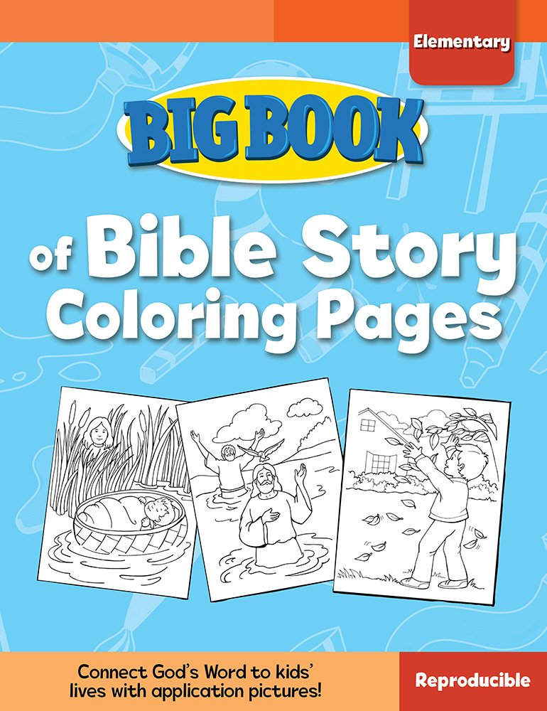 Big Book Of Bible Story Coloring Pages For Elementary Kids Big Books Cook David C 9780830772339 Amazon Com Books