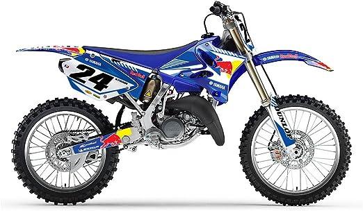 Amazon Com Yamaha Yz 125 250 2006 2012 Blue Bull Mx Motocross Decal Kit Arts Crafts Sewing