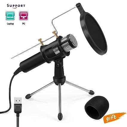 Microfono A Condensatore Professionale Usb Microfono Per Registrazioni In Studio E Radiofonici Youtube Facebook Twitch Da Jomstpclaptop