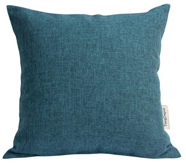 Farmhouse Fall Decor Ideas - Heavy Duty Fabric Pillow Covers Teal
