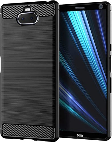 Sony Xperia 10 Case,LuckyMi TPU Shock Absorption Technology Full Protective Case Cover for Sony Xperia 10 Smartphone (Black, Sony Xperia 10 Case)