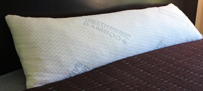 Shredded Memory Foam Body Pillow, Viscose Rayon Cover