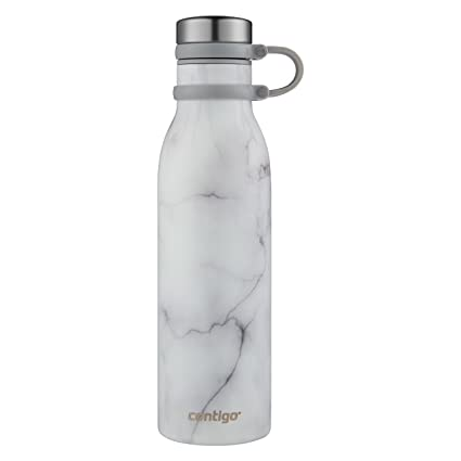 Image result for Contigo Couture Vacuum-Insulated Stainless Steel Water Bottle, 20 oz, White Marble