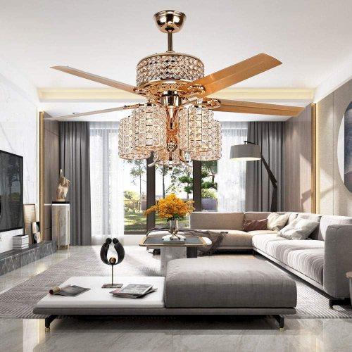 LuxureFan with Chandelier Decoration