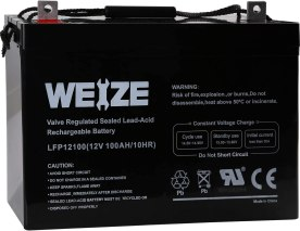 Best AGM Battery for Solar - Weize 12V 100AH