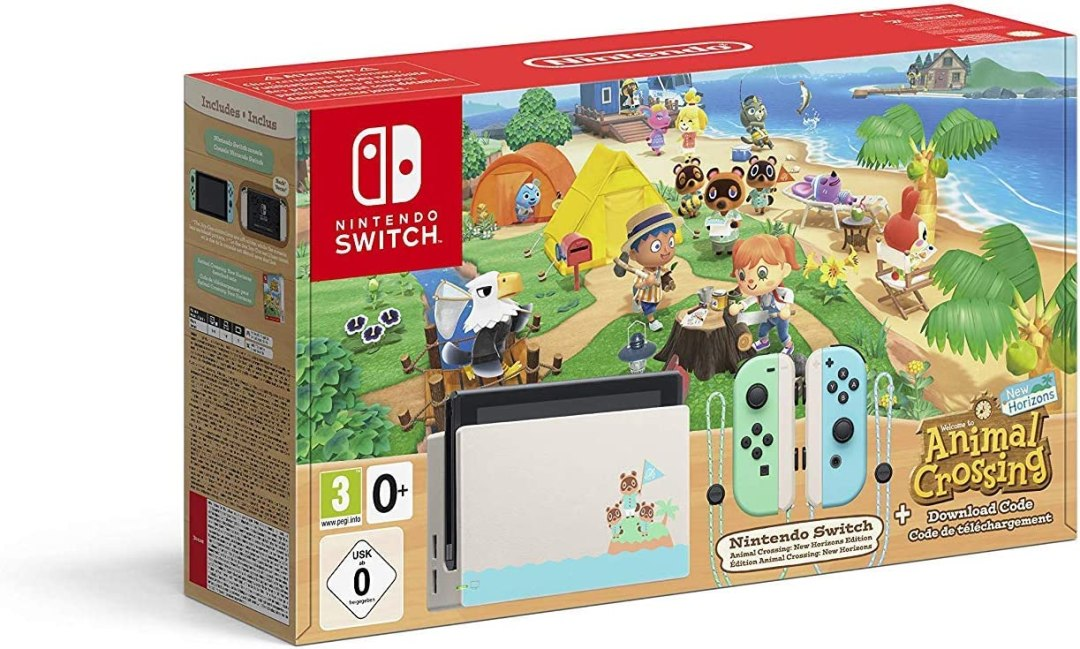 Nintendo Switch Animal Crossing Console (Edition Limité) + Animal Crossing New Horizons