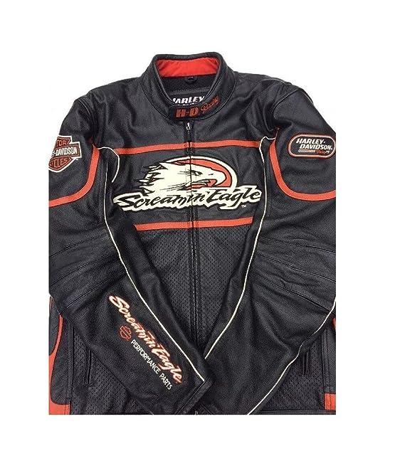 Harley Davidson Screaming Eagle Raceway Leather Jacket Men S