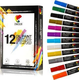 Paint Pens for Rock Painting, Wood, Metal, Plastic, Canvas, Tire, Rocks