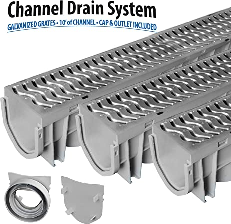5 X Heavy Duty 7 Tonne Tested Weight Limit Storm Water Deep Flow Channel Drainage Pvc