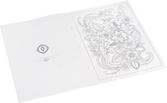 Idena 19 Livre de coloriage pour Adulte, Fleurs, 19 × 19,19 cm