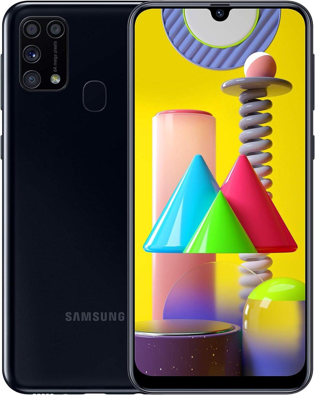 SAMSUNG Galaxy M31 - Smartphone Portable débloqué 4G (Ecran 6,4 pouces - 64 Go - Double Nano-SIM - Android) - Version Française - Noir