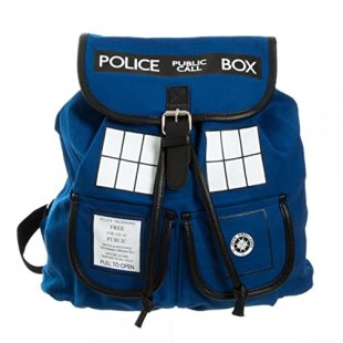 Doctor Who TARDIS Knapsack Backpack 14 x 17in