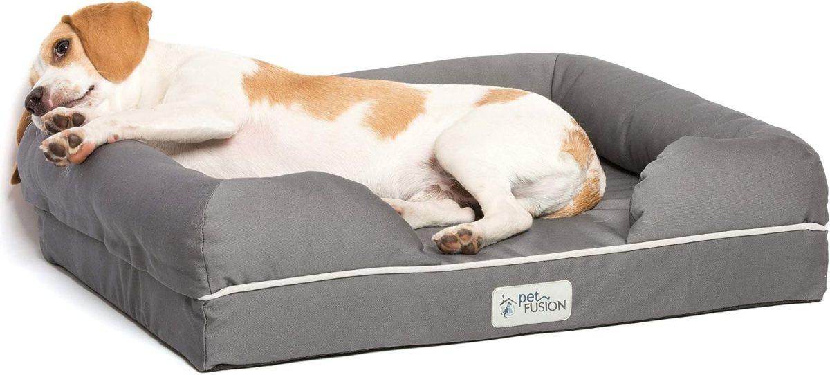 Cama de espuma viscoelástica para perros pequeños y gatos, Gris( Slate Grey- Small Bed), 63,5 x 50 x 14 cm