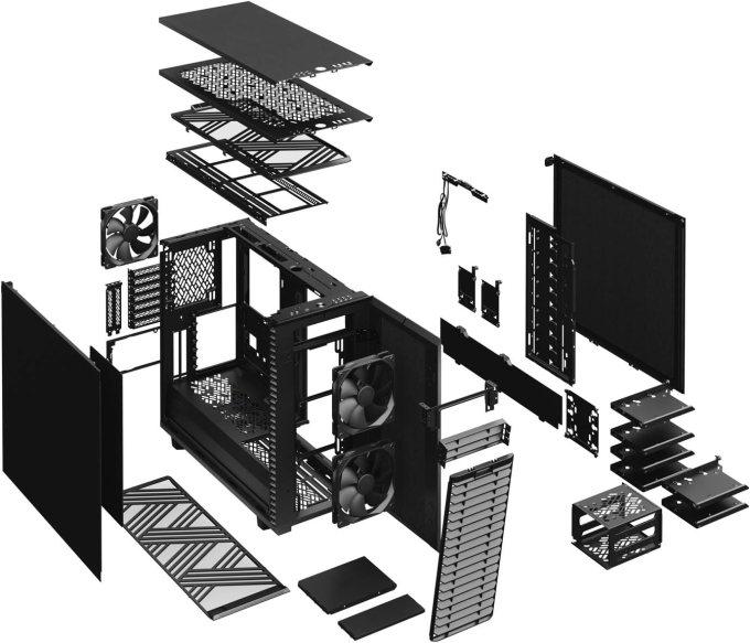 Fractal Design Define 7 製品の部品構成