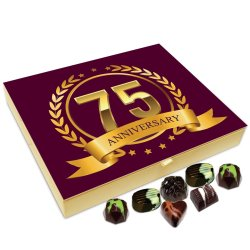 Chocholik Anniversary Gift Box – Happy 75th Anniversary Chocolate Box – 20pc