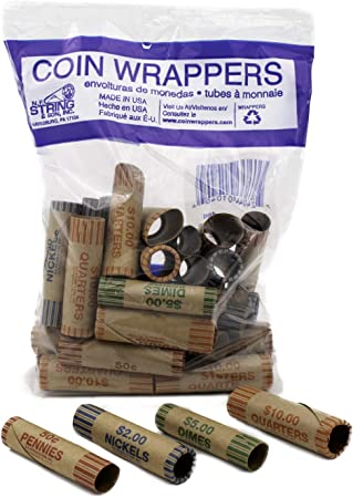 Amazon.com : Assorted Pre-Formed Coin Wrappers (36 Pieces) : Coin ...