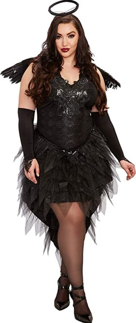 Dreamgirl Women's Plus Size Angel of Darkness