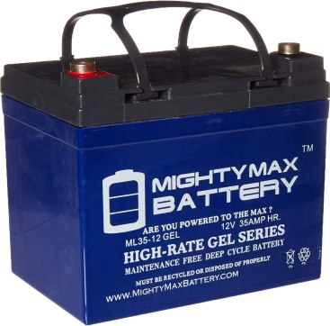 ML35-12 Gel - 12 Volt 35AH Rechargeable Gel Type Battery - Mighty Max Battery Brand Product