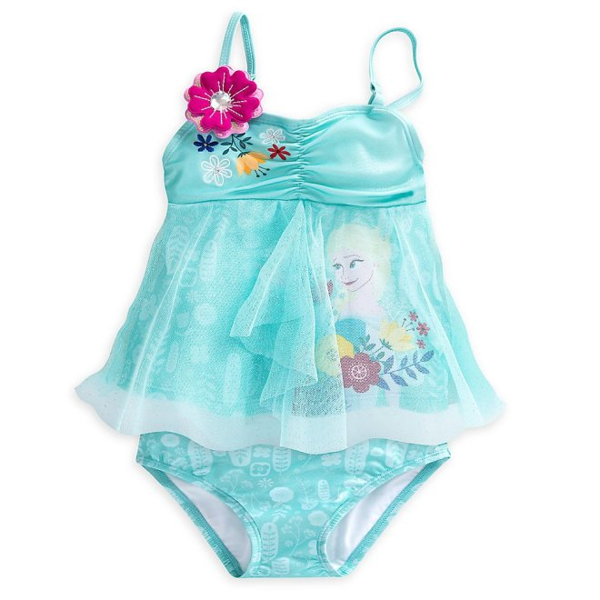 4db7169464497 ... Disney Frozen Elsa Deluxe Swimsuit for Girls - 2-Piece Blue ...