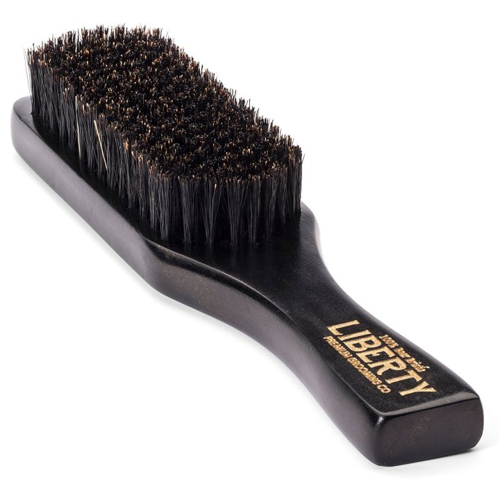 Beard Brush - Boar Bristle Brush by Liberty Premium Grooming Co. - Guaranteed 100% Firm Boar Bristle