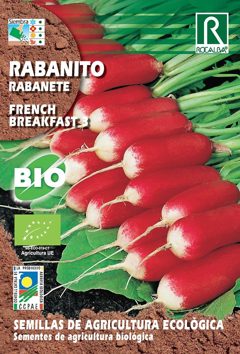 Semillas ECOLOGICAS Rabanito French Breakfast 3 gr.