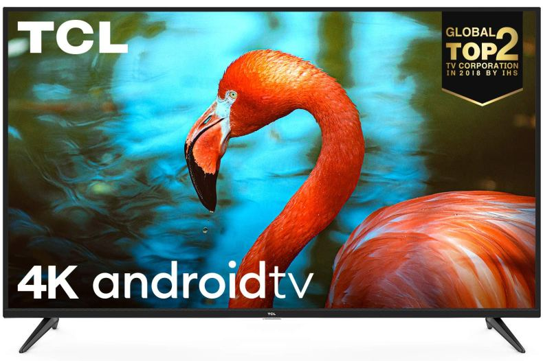 TCL 138.78 cm (55 inches) AI 4K UHD Certified Android Smart LED TV 55P8 (Black)