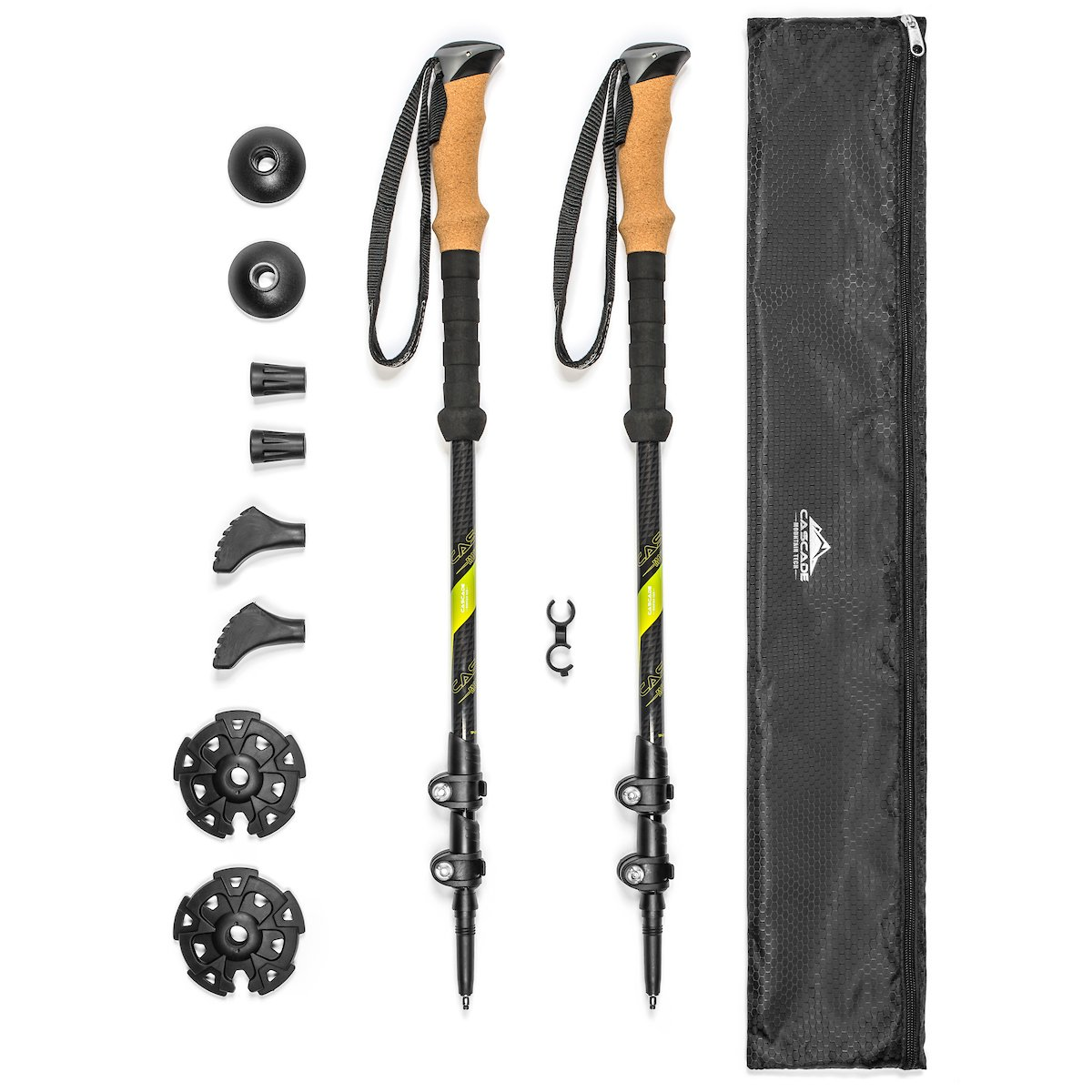 Cascade Mountain Tech Carbon Fiber Trekking Poles - Best Hiking Gear