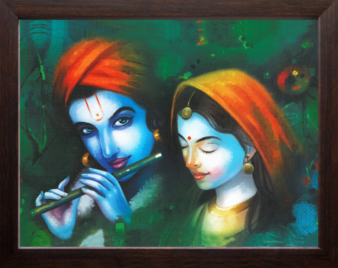 Art N Store Radha Krishna Modern Art Acrylic Sheet Painting High Contrast Hd Printed Picture Religious And Decor With Plane Wood Frame 30 X 23 5 X 1 5 Cm Brown Amazon In Home Kitchen