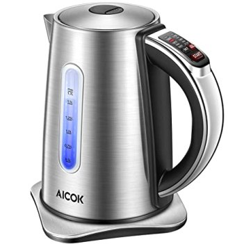 Electric water kettle with temperature control